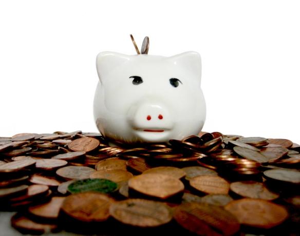 Piggy bank - white