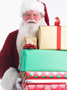 Santa Claus with Armload of Presents