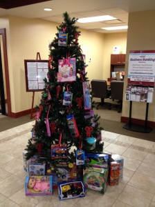 Customers can donate toys to Hocking County Children's Services by bringing an unwrapped toy to the Hocking Hills Banking Center.