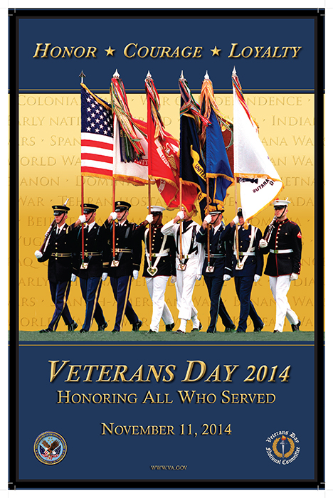 Official 2014 Veterans Day Poster courtesy www.va.gov.
