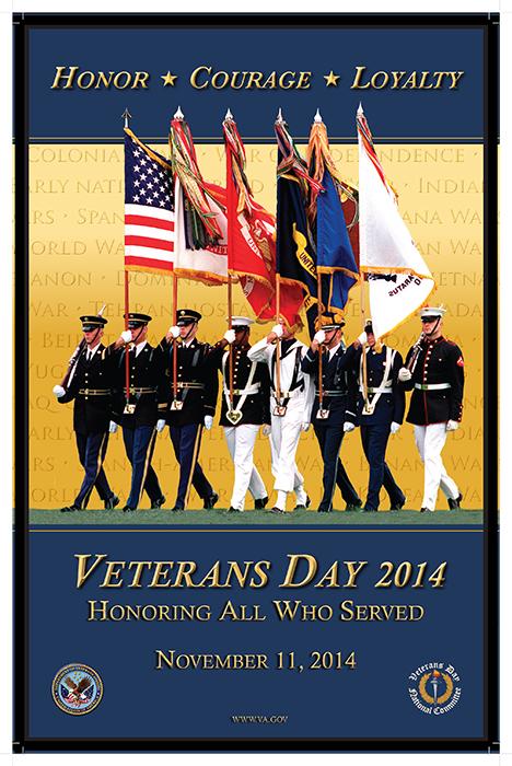 Official 2014 Veterans Day Poster courtesy www.va.gov.