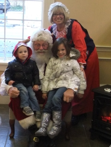 Kingston and Kileigh, the children of VCNB employee Austin Rohr enjoyed meeting Santa at the bank last December. Bring your kids to meet Santa at our Friendly Bremen locations this month!
