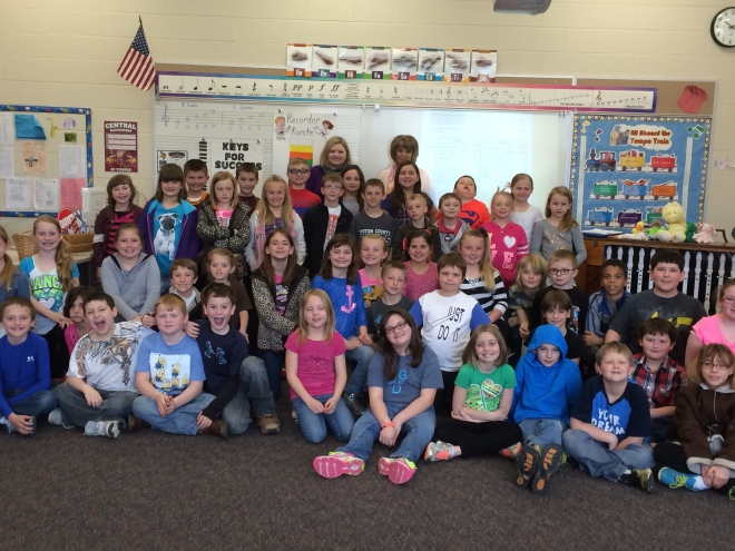 Thanks to Central Elementary Principal Teresa Snider for hosting us during Teach Children To Save Month!