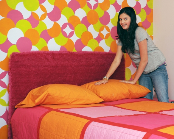 Assign chores based on abilities. Making the bed is a great chore for any tween.