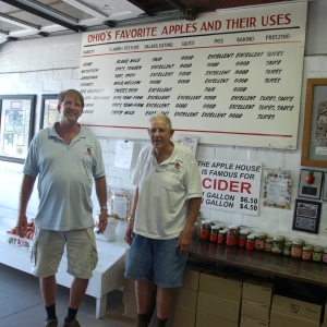 Bobby Bowers and his father Bob are ready to greet customers as they carry on the century old tradition that is the Apple House.