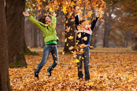 Fall Leaf Jumping