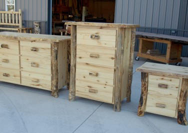 Bedroom furniture in production