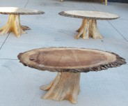 Coffee tables in production.