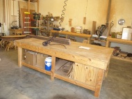 The workshop where merchandise is created.