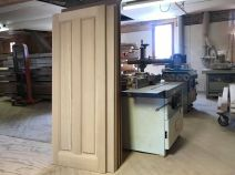 Wood door in shop